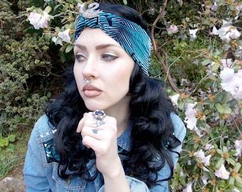 Blue Swan Headband