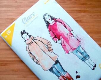 Women's Coat Pattern - Clare Coat Pattern - Sewing Pattern - PRINTED pattern