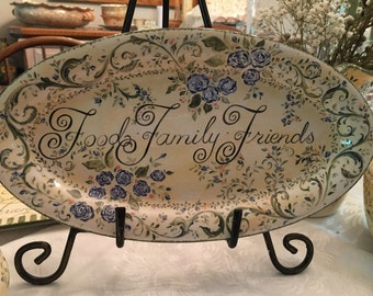 Hand Painted Food Family Friends Platter