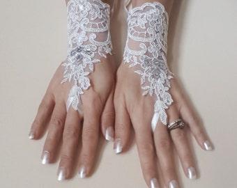 Ivory lace gloves bridal wedding gloves lace gloves fingerless gloves 0039