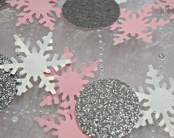 Winter ONEderland Snowflake Party Decoration Confetti / Wonderland Confetti / Table Scatter / 150 pieces / Frozen / Punchies / Baby Girl