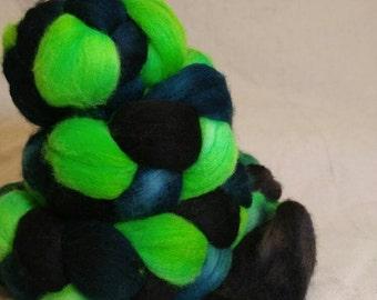 Merino Wool Roving Spinning Fiber - Fallout Gradient