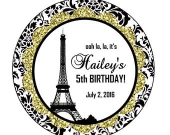 Paris Favor Tags, Paris Baby Shower Favors, Paris Birthday Favors