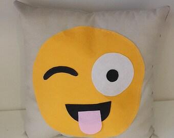 Smiley Felt Pillow