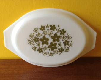 Vintage Pyrex Spring Blossom Lid 045  Replacement Lid Crazy Daisy