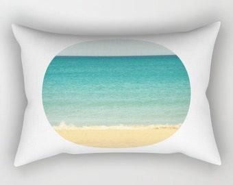 Rectangular Pillow - Beach Sea & Sky - Small Medium Large XLarge - photography white blue turquise summer