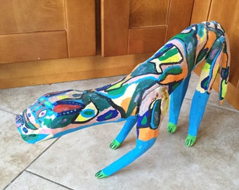 Antique Mexican Oaxacan Animal Folk Art Carving, Large