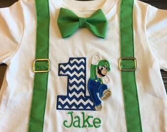 Luigi birthday shirt