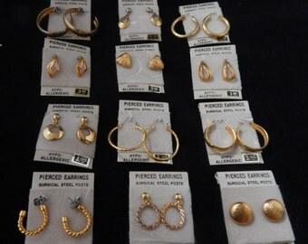Set of  12c Pierce Earrings