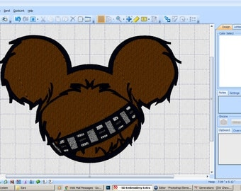Embroidery Iron-on Patch - Chewbacca ears