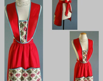 1950s pinafore apron