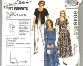 UNCUT 6048 McCalls Sewing Pattern Front Button Jacket Skirt Pants Size Medium
