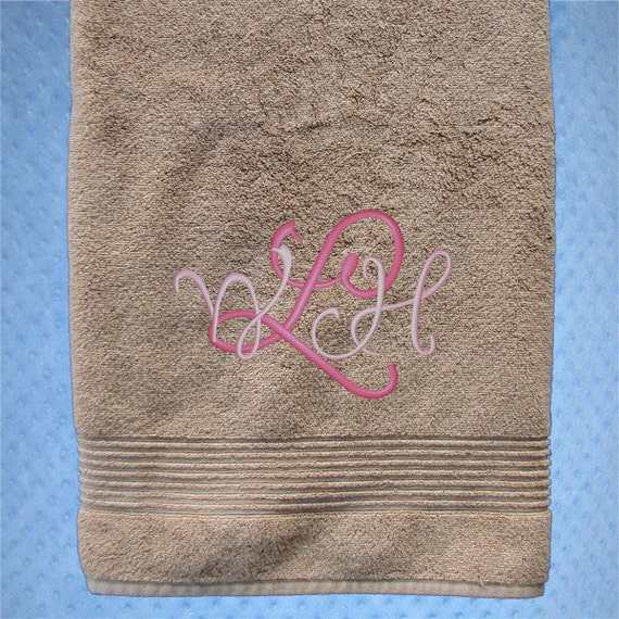 Bath Towel - Personalized Bath Towel Wedding Gift - Bridal Shower Gift ...