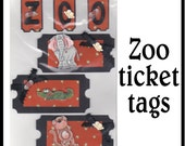 CLEARANCE SALE * Scrapbook Page Zoo Scrapbook Paper Layout Scrapbooking Embellishment 3d new Safari ticket Scrapbook Paper Piecing