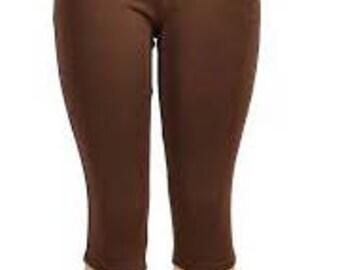 Custom made capris, two pockets and wide waist band
