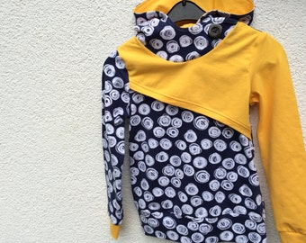Hoodie girls sweater Gr. 104 yellow or Berry, twins