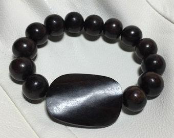 Chocolate Tiger Ebony Wooden Bracelet