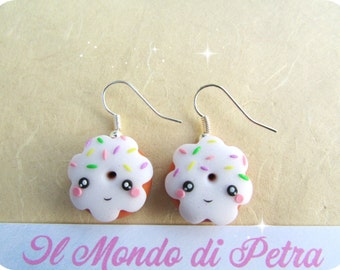 Donuts Polymer Clay Kawaii Earrings
