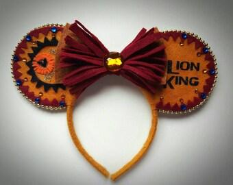 Lion King Simba inspired Minnie Mouse Ears Headband