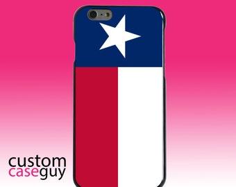 Hard Snap-On Case for Apple 5 5S SE 6 6S 7 Plus - CUSTOM Monogram - Any Colors - Texas State Flag