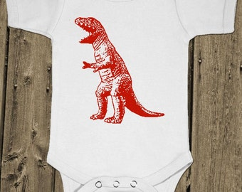 Big Bang Dinosaur - Trex Tyrannosaurus - Baby One Piece Cotton Bodysuit