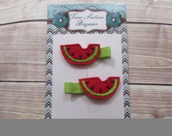 Watermelon Hair Clip, Watermelon Feltie, Girls Hair Clip, Toddler Hair Clip, Feltie, Fruit Hair Clip