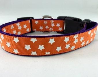Glow in the Dark Star Halloween Dog Collar