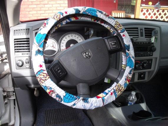 A Wonder Woman  Print Steering Wheel Cover Custom Made.
