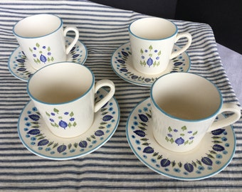 Swiss Alpine, mid century cups and saucers, set of 4