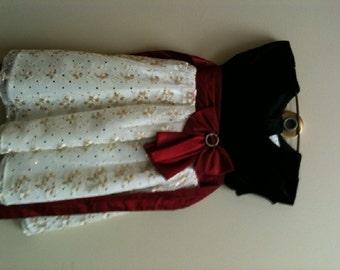 Sparkle Party Dress - Toddler Christmas Dress, Vintage Toddler Dress, Taffeta Dress -Size Girls 4T