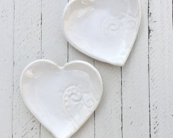 Ceramic, Heart Dish, Spoon Rest, Plate, Side Table Dish, Heart Plate,