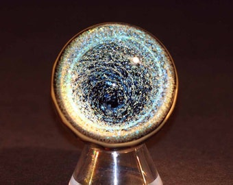 Flameworked Dichroic Vortex Marble
