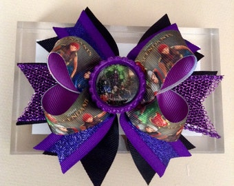 Descendats Hair Bow, Descendats Boutique Style Hair Bow.