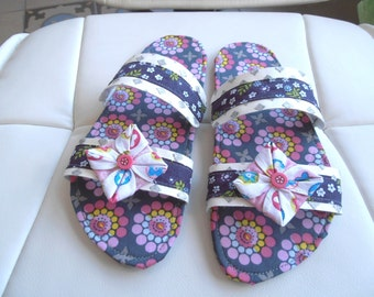 SLIPPERS barefoot woman T36 tosn purple/pink