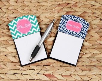 Custom Gifts for Coworkers Sticky Note Holder Office Accessories Monogrammed Personalized Desk Co-Worker Gift Office Decor Employee Gift