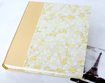 Handmade Photo Album, Large Photo Albums, Baby Album, Keepsake Albums, Yellow Book