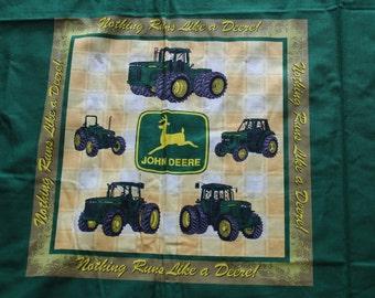 John Deere Pillow Fabric Panels DIY, John Deere Nothing Runs Like a Deere Panels