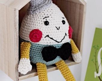 Crochet Humpty Dumpty, soft toy