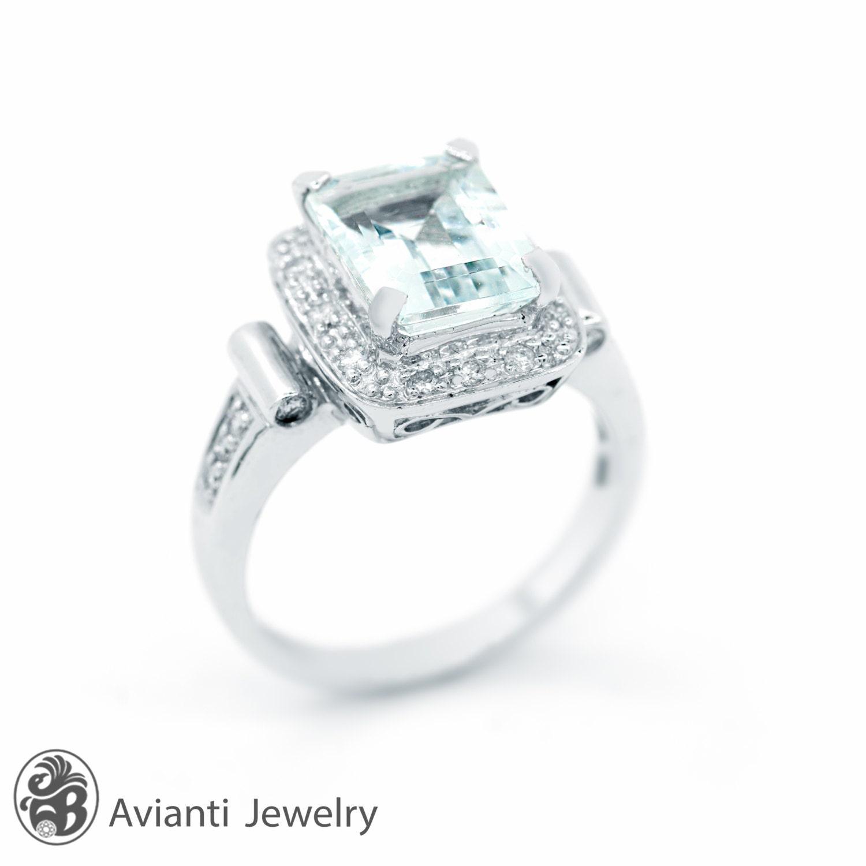 aquamarine ring s ring with aquamarine emerald
