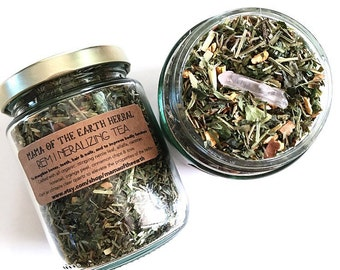 Organic Remineralizing Tea Blend with Crystal