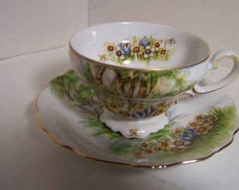 Lovely Vintage Demittasse Cup and Saucer