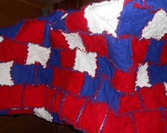 Lap Size Rag Quilt (Sample)