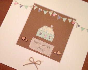 Home Sweet Home Picture, Home Picture, New Home, New House Gift *HANDMADE*