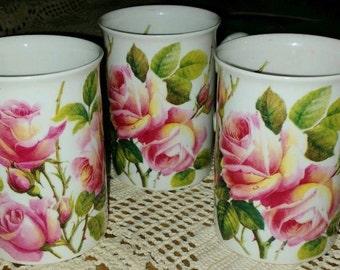 Roy Kirkham Fine Bone China Mug English Rose  c.1992