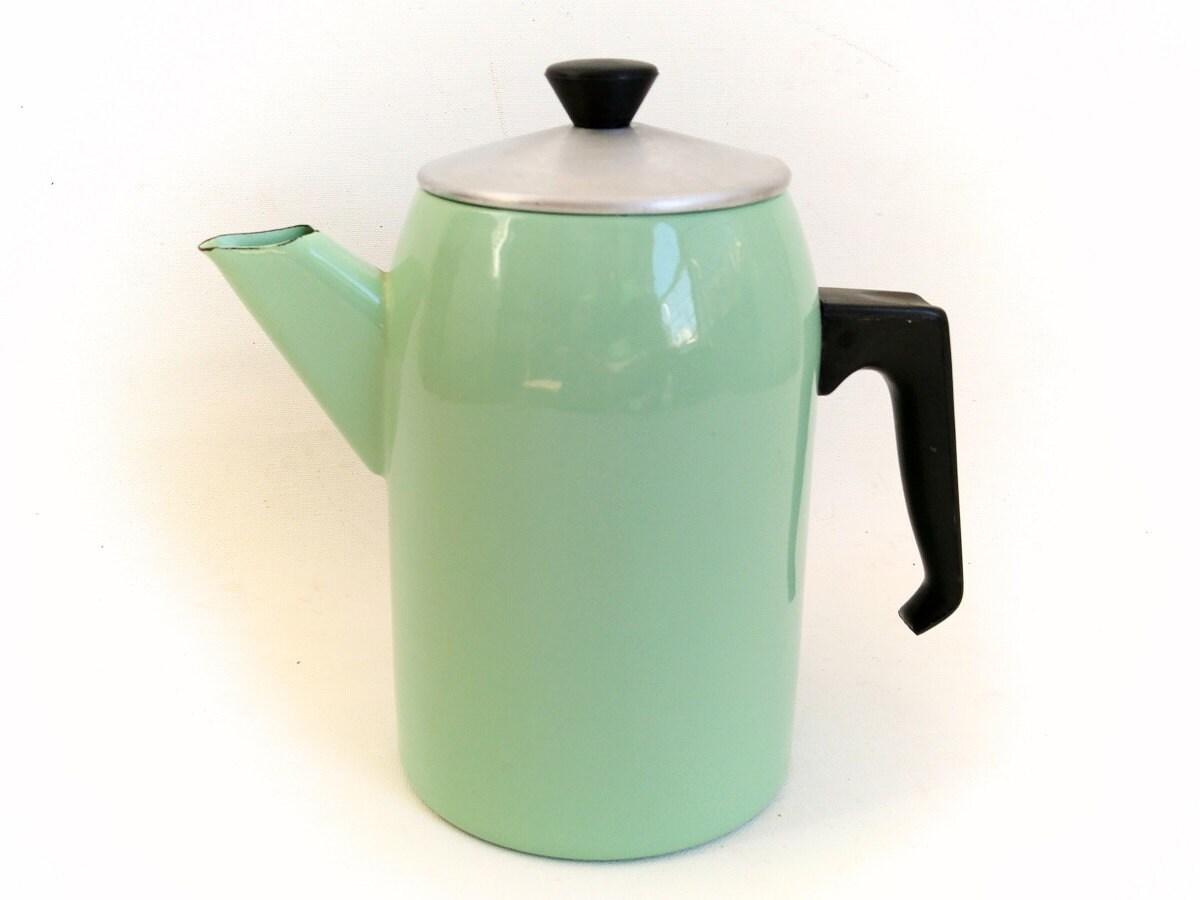 Turquoise Kitchen Decor Vintage Enamelware Enamel Milk