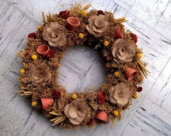 "20"" Pretty Countryfield Wreath - Year Round Wreath - Hanging Wreath - Wreath For Door"
