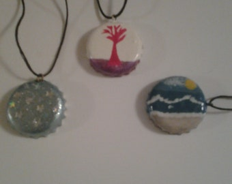 Bottlecap necklaces