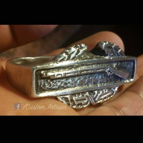 Items Similar To Army Combat Infantry Badge Cib Two Finger