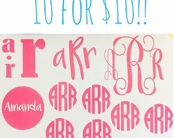 10 for 10 - Monogrammed Initial Decals!!