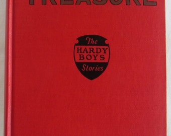 Hardy Boys #1 The Tower Treasure Franklin W Dixon 3rd Print Red Book Copy Dust Jacket